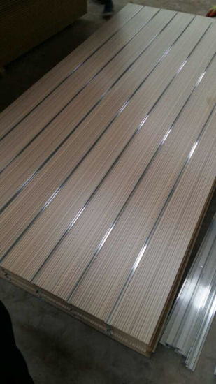Factory-Groove MDF with Melamine Face Thickness 18mm 15mm pictures & photos