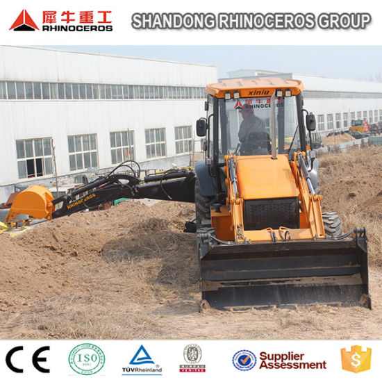 China 6ton 7ton 8ton Big Backhoe Loader Cummins Engine