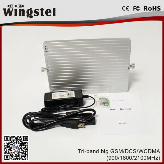 2018 New Design Tri Band Signal Booster for Cellphone/2g 3G 4G Signal  Amplifier with Outdoor Antenna