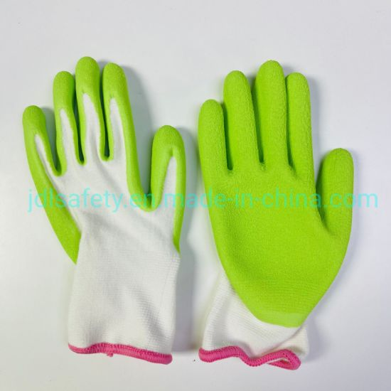 Planting Latex Coating Best Grip Outdoor Work Safety Bamboo Fabric Garden Working Glove