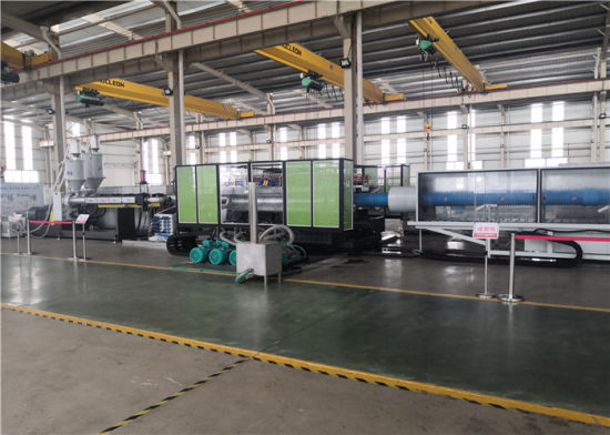 Jwell High Speed Horizontal Water Cooling Double Wall Corrugated HDPE Pipe Extrusion Machine