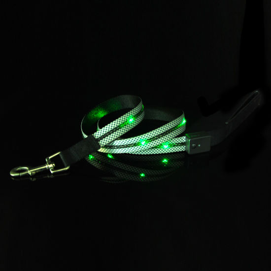 USB Rechargeable Glowing Multi Color LED Lights Dog Leash