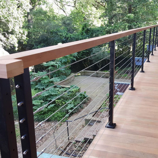 China Wire Rope Railing Balustrade with Stainless Steel Wire Ropes ...