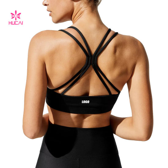 Fitness Active Workout Strappy Top Custom Crop Tank Top Manufacturer Gym Yoga Women Sports Bra