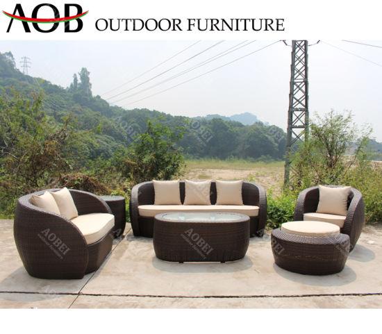 Wholesale Modern Outdoor Garden Home Hotel Patio Villa Rattan Wicker Sectional Lounge Sofa Furniture Set