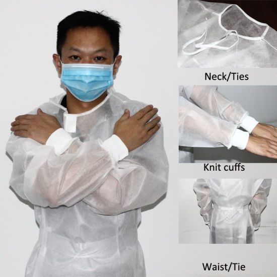 Cheap Protection Suit SMS Non-Woven Blue Coverall Protection Isolation Suit