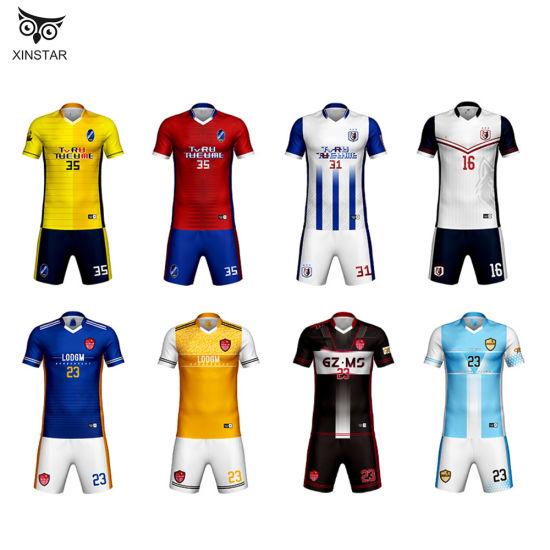 [Hot Item] Wholesale Hot Sale Football Sports Jersey Wear Quick Dry Football Uniforms Cheap Plain Set Soccer Jersey