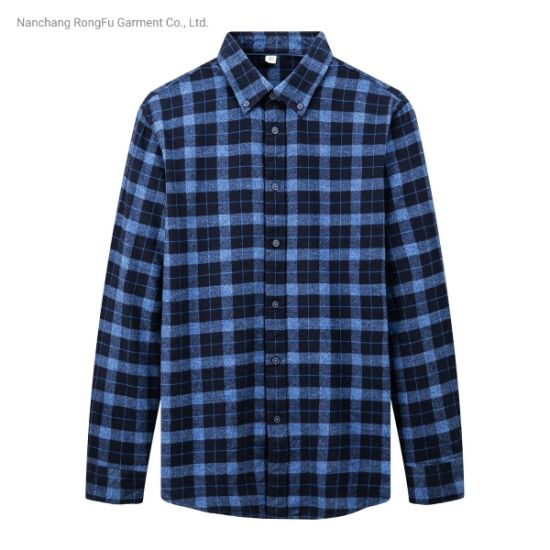New Products Men's Fashion Casual Retro Trend Cotton Long-Sleeved Shirt