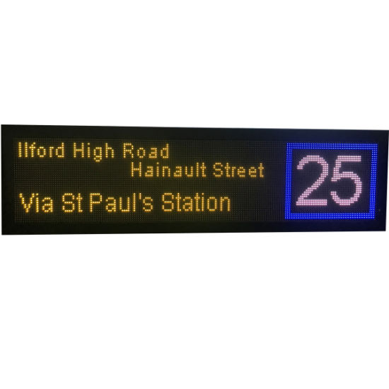 Full Color Bus Transit Display Signs to Guide The Passengers