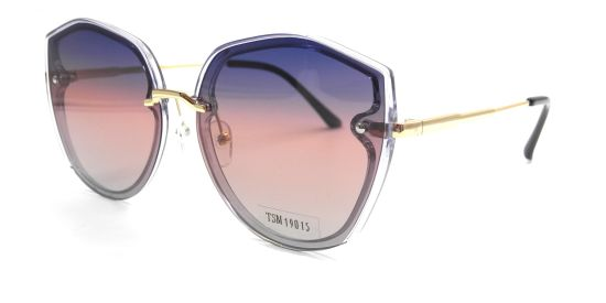 Fashion Colorful Lens Sunglasses, High Quality Gold Glasses Frame and Temple