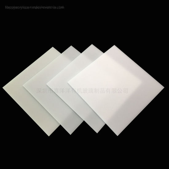 2020 Factory Directly Supply Bayer Material LED Diffusion Plate Acrylic LED Diffuser Sheet for LED Lighting