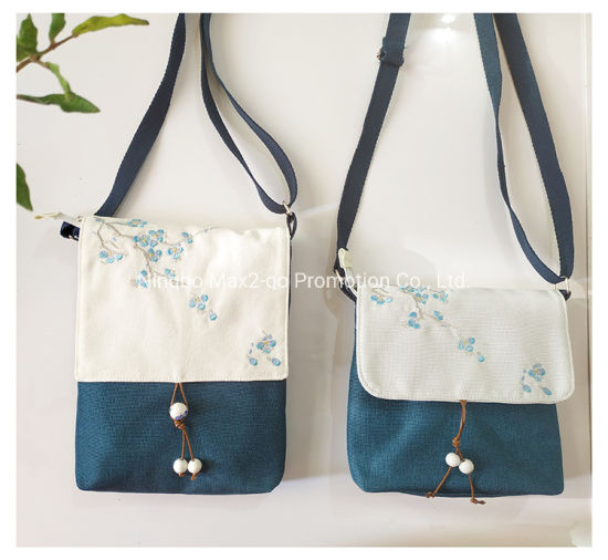 Chinese Style Embroidery Custom cross body mini shoulder bag