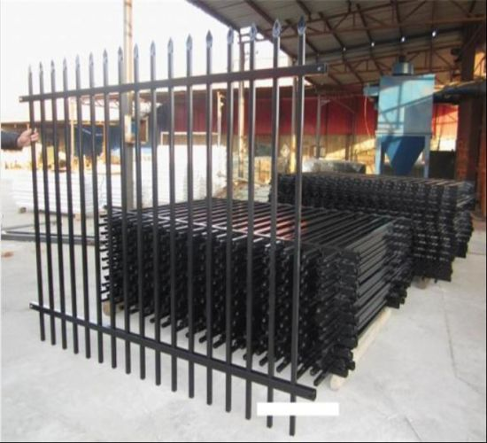 Wholesale Powder Coated Spear Top Wrought Iron Fence/Steel Fence/Security Fence