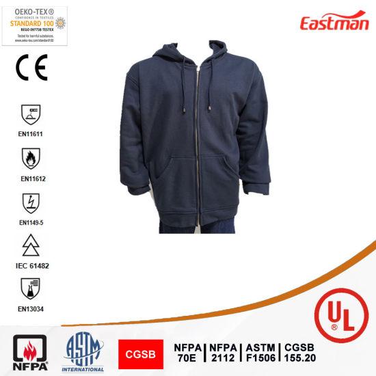 Flame Retardant Pullover Sweatshirt Zip Front Hoodie