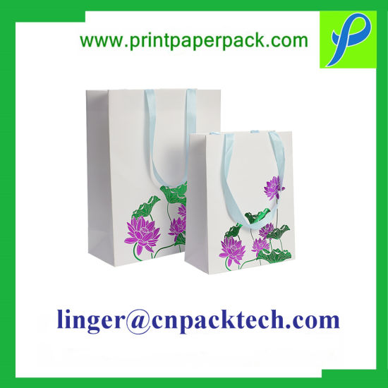 Bespoke 210GSM Paper/Ribbon/String Handle with Hot Stamping/Embossed