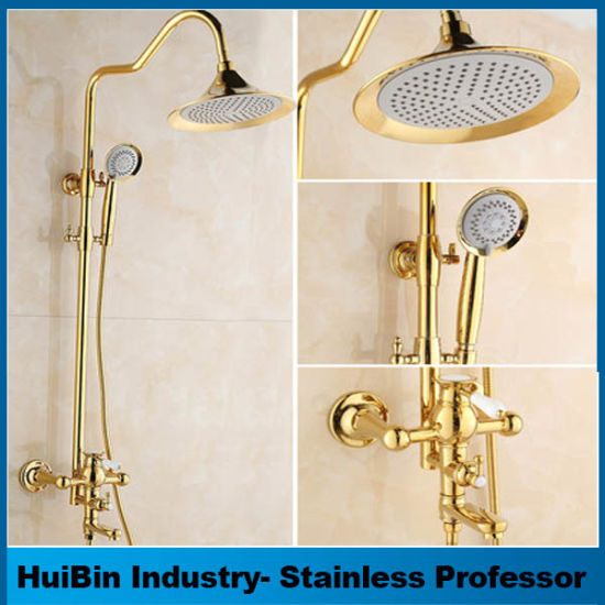 Gold Polished Wholesale Luxury Bathroom Gold Shower Mixer Shower Set pictures & photos