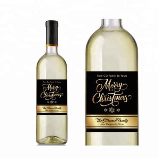 Custom Different Types Label Printing Strong Adhesive Cold Foil Wine Private Label Sticker
