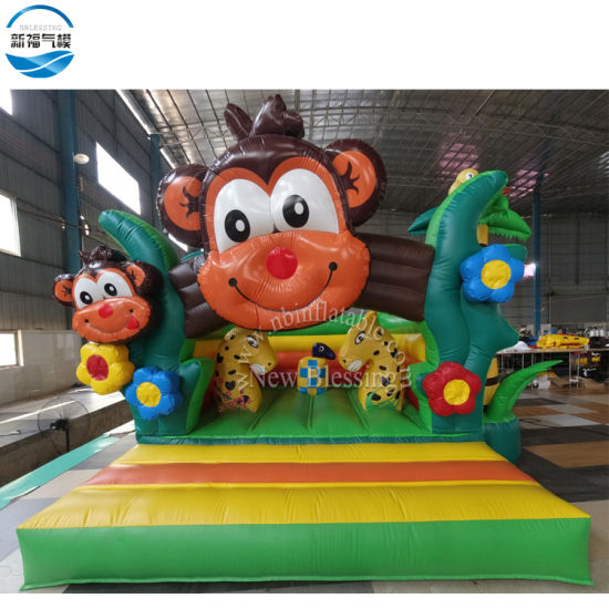 Green Commercial Inflatable Jumping Bouncy Bed, PVC Inflatable Bouncer pictures & photos