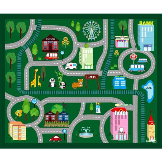 Printed Children Joyful Wholesale Floor Mat pictures & photos