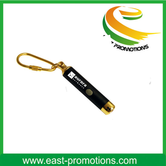 Mini Promotion LED Flashlight Keychain for Gift pictures & photos