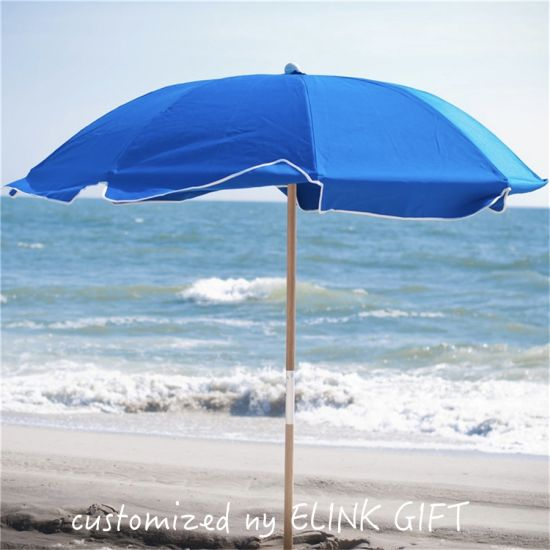 Advertising 38mm 48mm Wooden Pole Beach Umbrella Parts Parasols