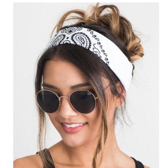 Polyester Silk Cotton Fashion Headwear Headband Design Your Own Bandana