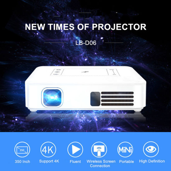 462bdc6195a7ee Digital Portable Mini Pocket Pico DLP LED Projector Support WiFi 1080P  Ultra HD Mobile Home Theater 4K 3D Video Android 7.1.2 OS China OEM  Manufacturer