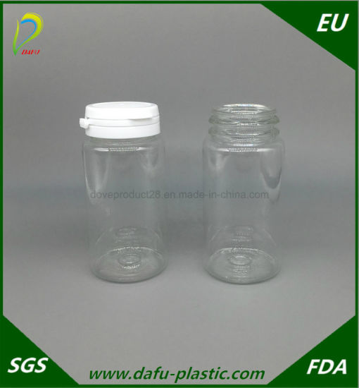 150ml Pet Clear Plastic Bottle with Tearing Cap