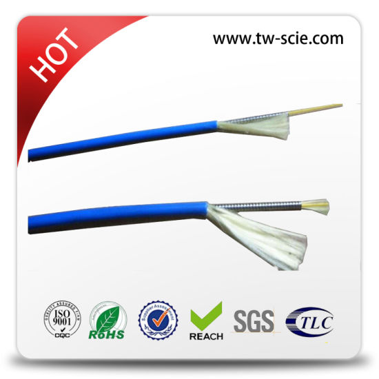 Armored Tight Buffer Fiber Optic Cable with Kevlary Yarn Strength Member 2~288core pictures & photos