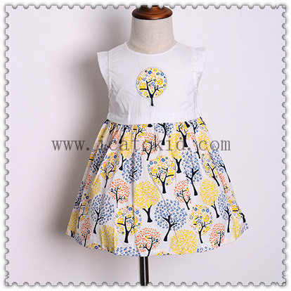 Optional Bottom Flower Pattern Prints for Kids Clothes in Summer