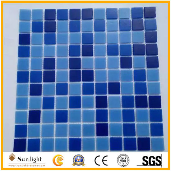 Mosaic Tile Blue Color Glass Mosaic for Swimming Poor Decoration pictures & photos