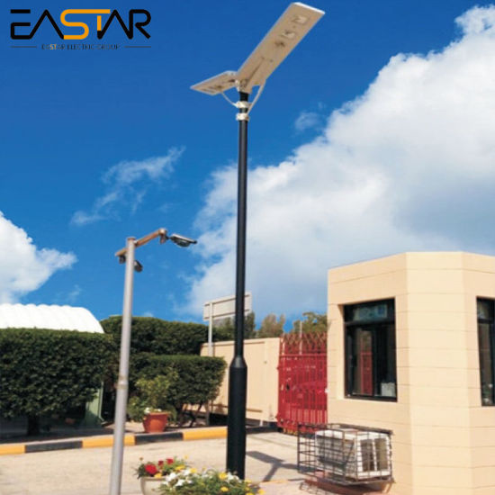 5 Years Warranty Aluminum Integrated LED Solar Street Light with Pole