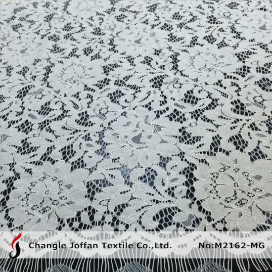 Cotton Flower Lace Fabric For Wedding Dresses (M2162 MG)
