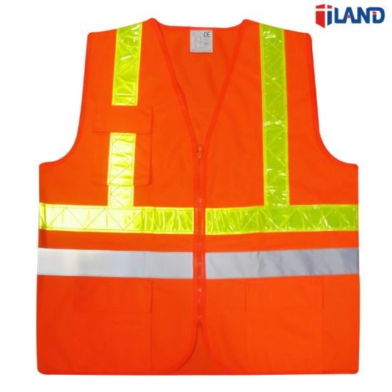 Security & Protection Safety Vest Mesh Vest Traffic Fluorescent Breathable Adjustable Pvc Tape Workplace Safety Supplies