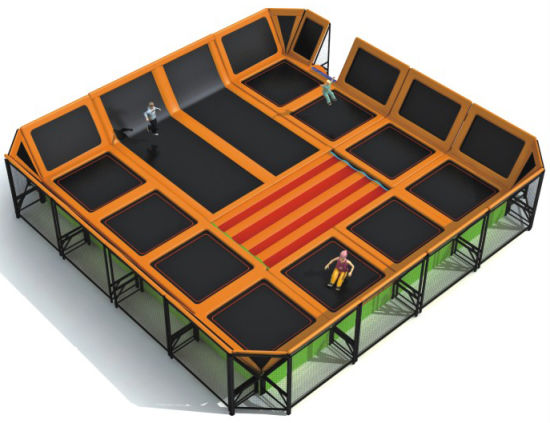Kaiqi Professional Children′s Trampoline Playground (KQ50123B) pictures & photos