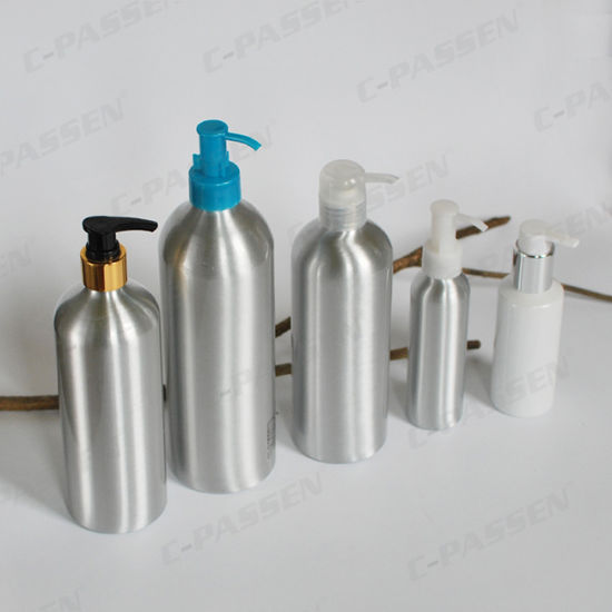 Custom Printed Aluminum Cosmetic Bottle with Dispenser Pump (PPC-ACB-040) pictures & photos