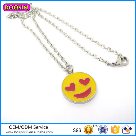 2016 New Products Top Designs Fashion Necklace Emoji Necklace pictures & photos