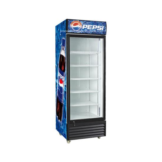 Upright Single Glass Door Beverage Cooler