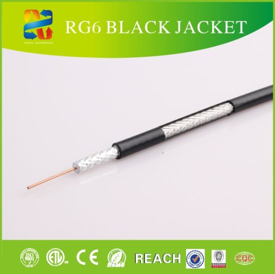 75 Ohm Standard Satellite Cable Coaxial Cable RG6 for CCTV/CATV System