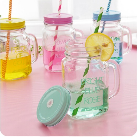Popular Shape Juice Jar/Mason Jar Glassware for Storage pictures & photos