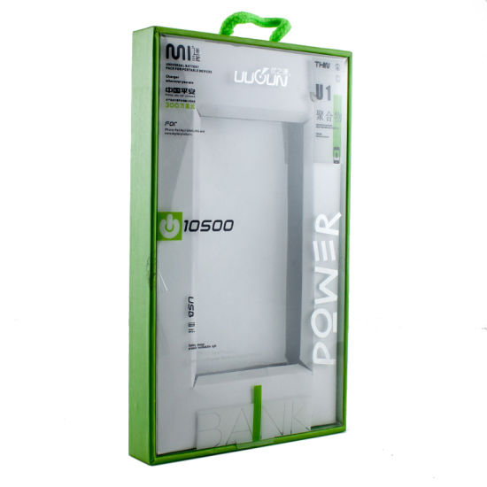 Customized Hanging Electronic Clear PVC Lid Window Packing Box