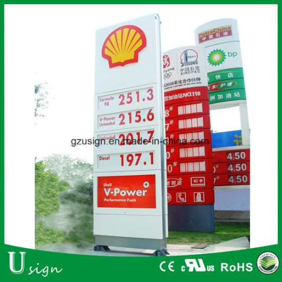 China LED Gas Station Price Board Signboard Petrol Station Gas