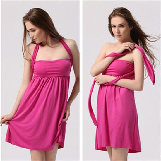 Wholesale Multi Wear Plus Size Casual Beach Party Dress