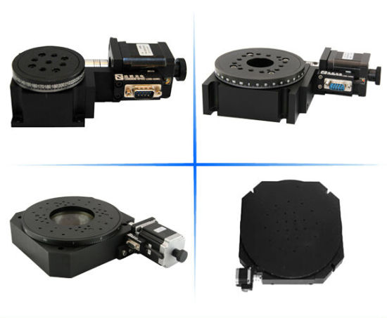 China Motorized Stepper Motor Worm Gear Rotary Stages - China