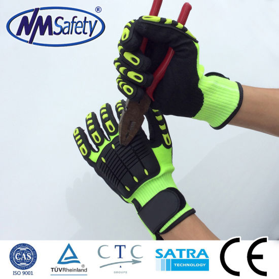 Nmsafety Cut and TPR Impact Resistant PPE Protection Work Safety Gloves