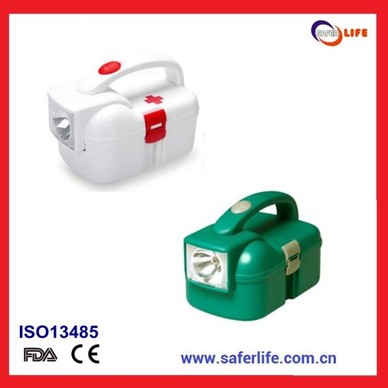 2019 Emergency Industrial Mine First Aid Box Set Portable Flashlight Hand Tool Box Flashlight Simple Toolbox pictures & photos