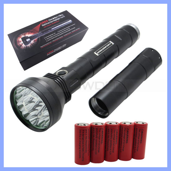 Rechargeable T6 18 LED 22000lm High Power Aluminium Flashlight pictures & photos
