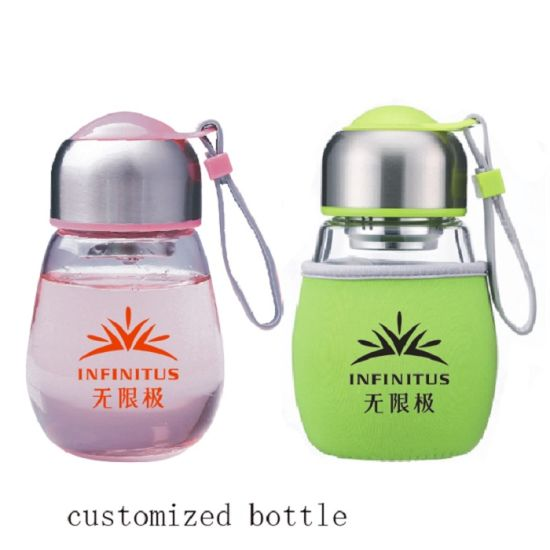 Penguin Shape Glass Bottle with Customized Print Logo pictures & photos
