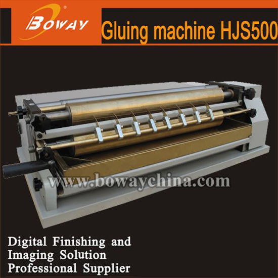 Boway Hjs500 Thermal Heating Paper Book Gluing Roll Hot Melt Roll Glue Machine pictures & photos