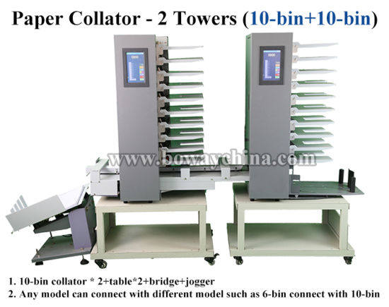 Boway Office Equipment 2 Towers Touch Screen 20 Bin Stacks A4 Paper Collating Machine Collator pictures & photos